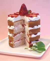 Fresh Strawberries and Cream Cake Recipe Tutorial