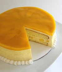 Glazed Mango Mousse Cake Recipe