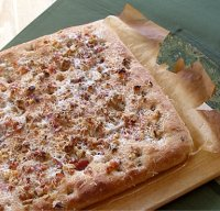 Parmesan, Bacon and Walnut Topped Whole Wheat Focaccia Bread Recipe Tutorial