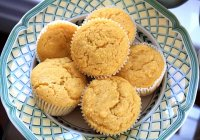 Moist Cornbread Squares or Muffins Recipe