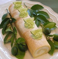 Mojito Roulade or Jelly Roll Cake Recipe