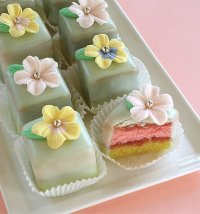 Spring Blossom Petits Four or Petit Four Squares Recipe Tutorial
