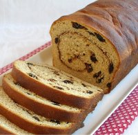 Cinnamon Swirl Raisin Bread Recipe