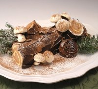 Gluten-Free Buche de Noel or Christmas Yule Log Cake Recipe