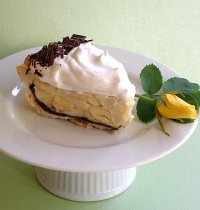 Banana Cream Chocolate Ganache Pie Recipe