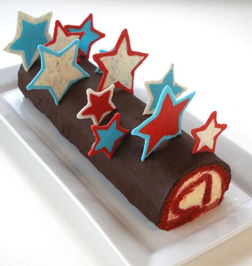 Red Velvet Ice Cream Cake Roll Recipe