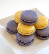 Blackberry and Lemon French Macarons