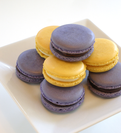 Fresh Meyer Lemon and Blackberry Macarons: The purple ones have ...