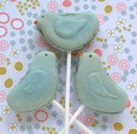 Bluebird French Macarons or Macaron Pops Recipe