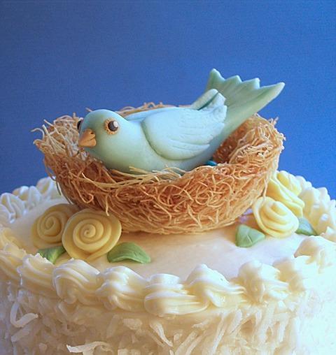Cake With Fondant Bird : Fondant - Bluebird Tutorial CraftyBaking Formerly ...