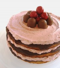 Chocolate Covered Cherry Jam Cake Recipe Tutorial