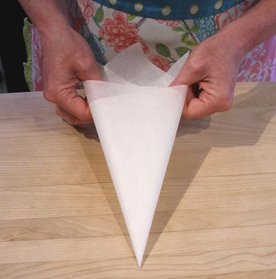 Parchment Paper Cone How To Make For Piping