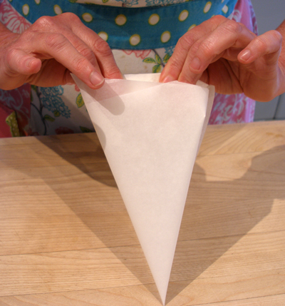 baking parchment bags parchment paper cone how to make for piping craftybaking