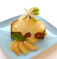 Toasted Pound Cake with Grapefruit and Vanilla Curd Recipe
