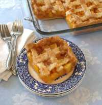 Nectarine or Peach Cobbler Potluck Pie Tutorial