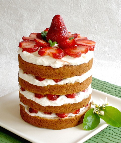Fresh Strawberries and Cream Cake | CraftyBaking | Formerly Baking911