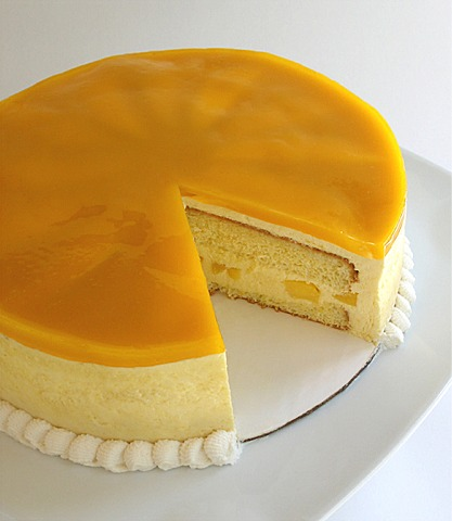 Glazed Mango Mousse Cake Craftybaking Formerly Baking911