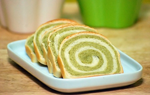Green Tea Swirl Bread | CraftyBaking | Formerly Baking911