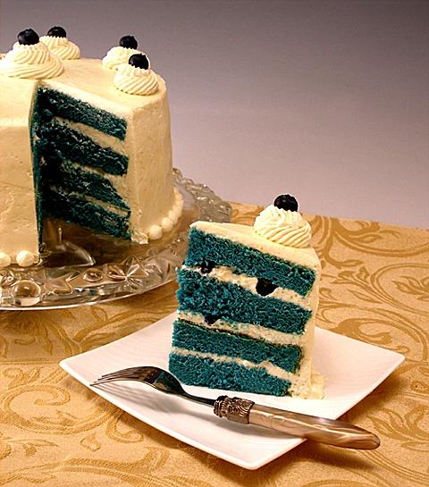 Blue Velvet Chiffon Layer Cake CraftyBaking Formerly Baking911