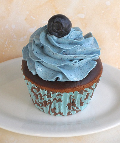 Chocolate Blueberry Frosted Cupcakes | CraftyBaking | Formerly ...