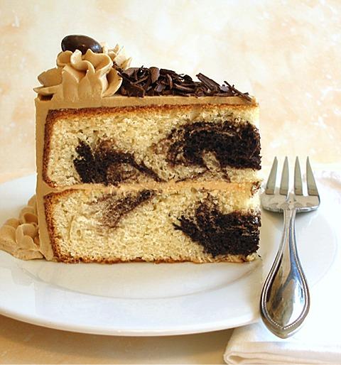 Caramel Vanilla Marble Cake