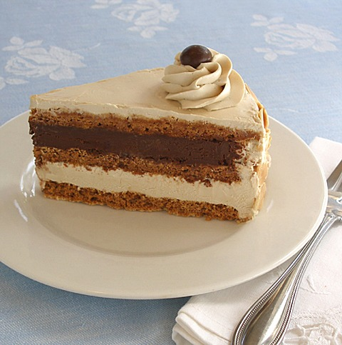 Almond Meringue Layer Cake Recipe