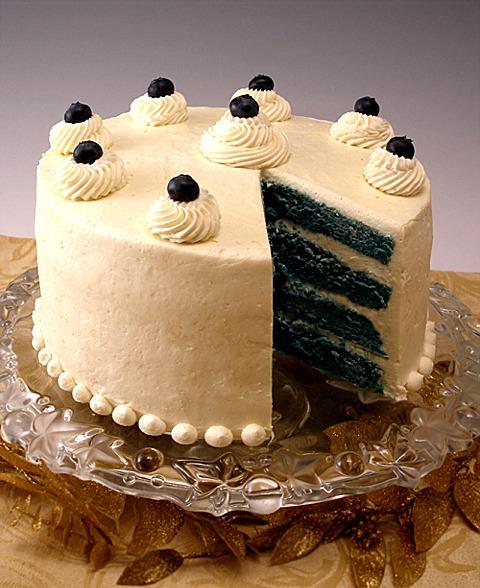 "Blue ""Velvet"" Chiffon Layer Cake"