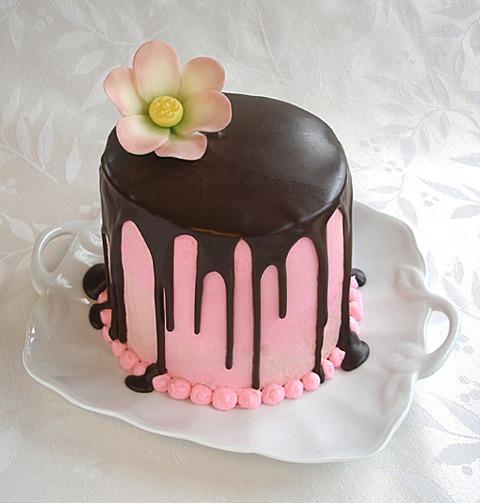 Chocolate Chiffon Cake With Chocolate Glaze