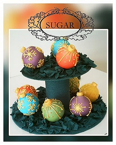 Cake Balls Decorated For Christmas : Christmas Cake Ornaments CraftyBaking Formerly Baking911