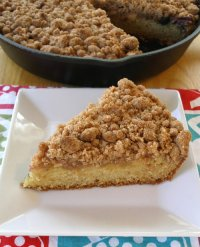 Fresh Fruit Crumb Skillet Coffee Cake Recipe Tutorial