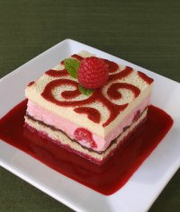 Arabesque Patterned Sponge Cake Shapes Recipe