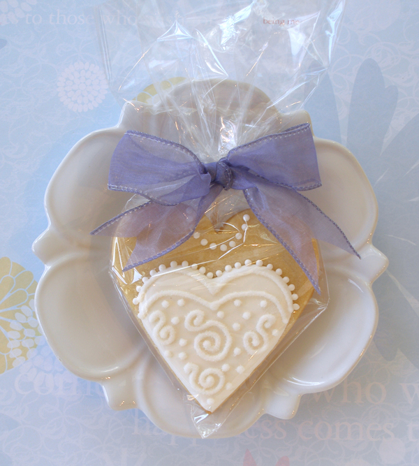 Wedding Cake Shaped Sugar Cookies